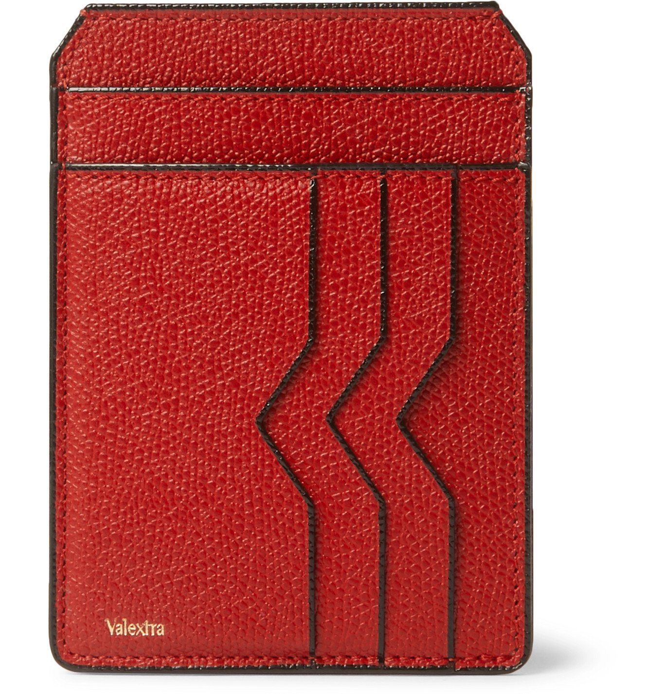 Photo: Valextra - Pebble-Grain Leather Cardholder - Red