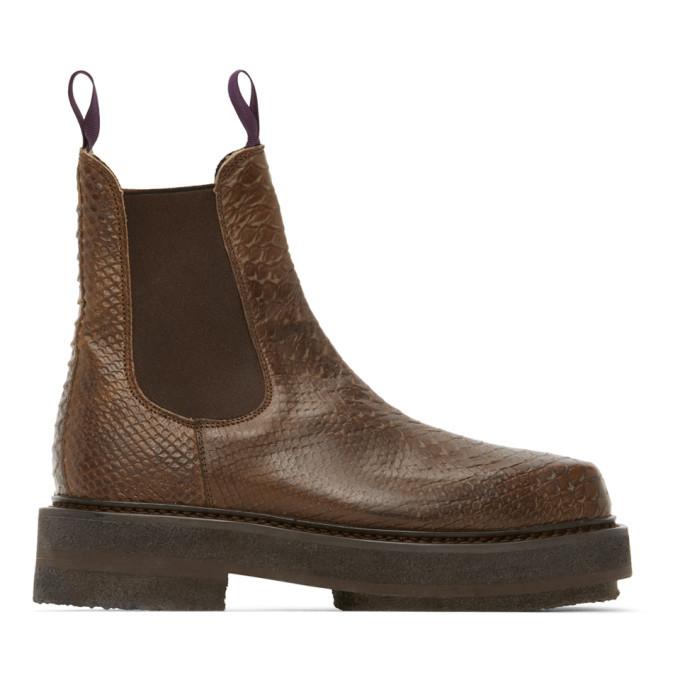 Photo: Eytys Brown Snake Ortega Chelsea Boots
