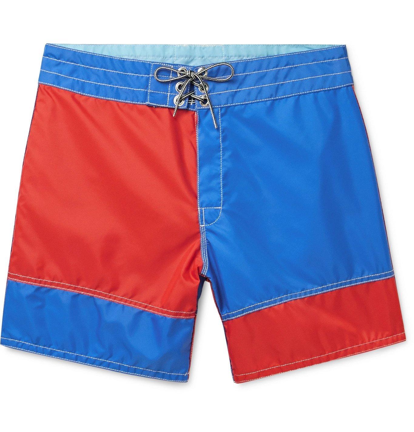 Photo: Birdwell - Mid-Length Colour-Block Swim Shorts - Multi