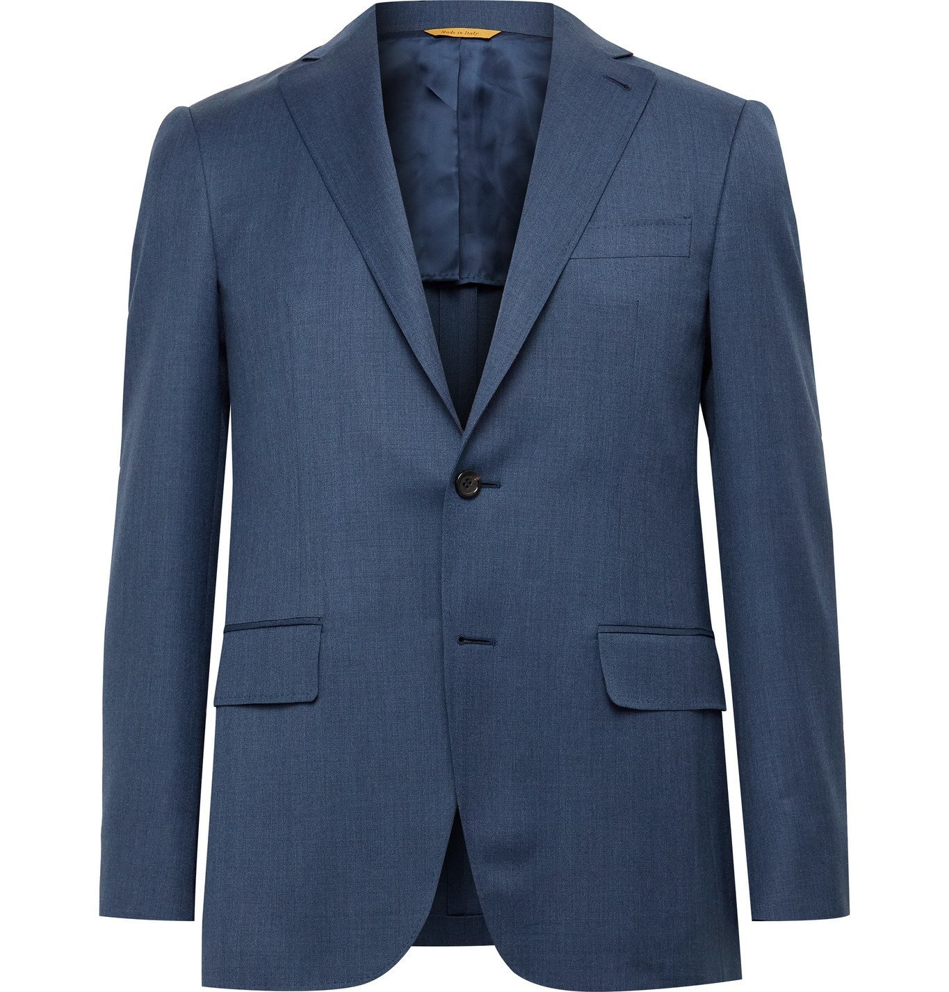 Photo: CANALI - Kei Slim-Fit Unstructured Wool Suit Jacket - Blue