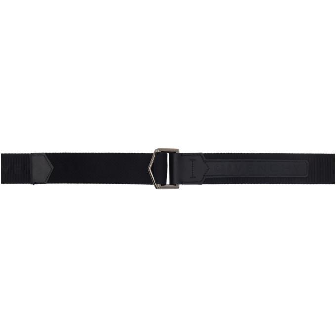 Photo: Givenchy Black Logo Webbing Belt