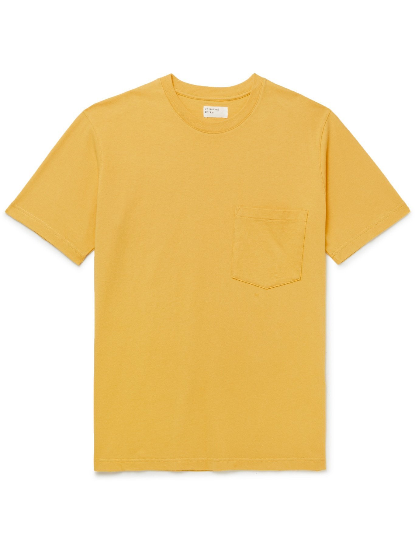 Photo: UNIVERSAL WORKS - Recycled Organic Cotton-Jersey T-Shirt - Yellow - XS