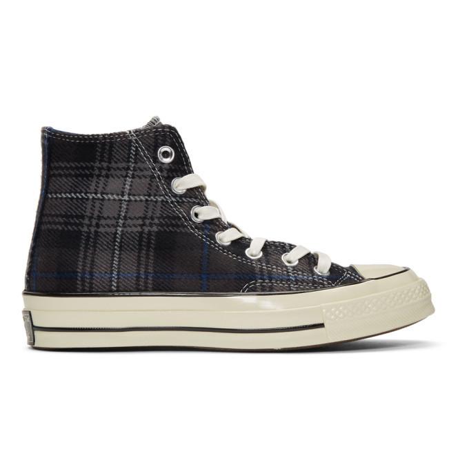 Photo: Converse Black Plaid Chuck 70 High Sneakers