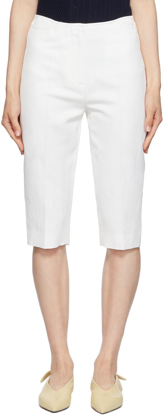 Photo: Totême White Linen City Sport Shorts