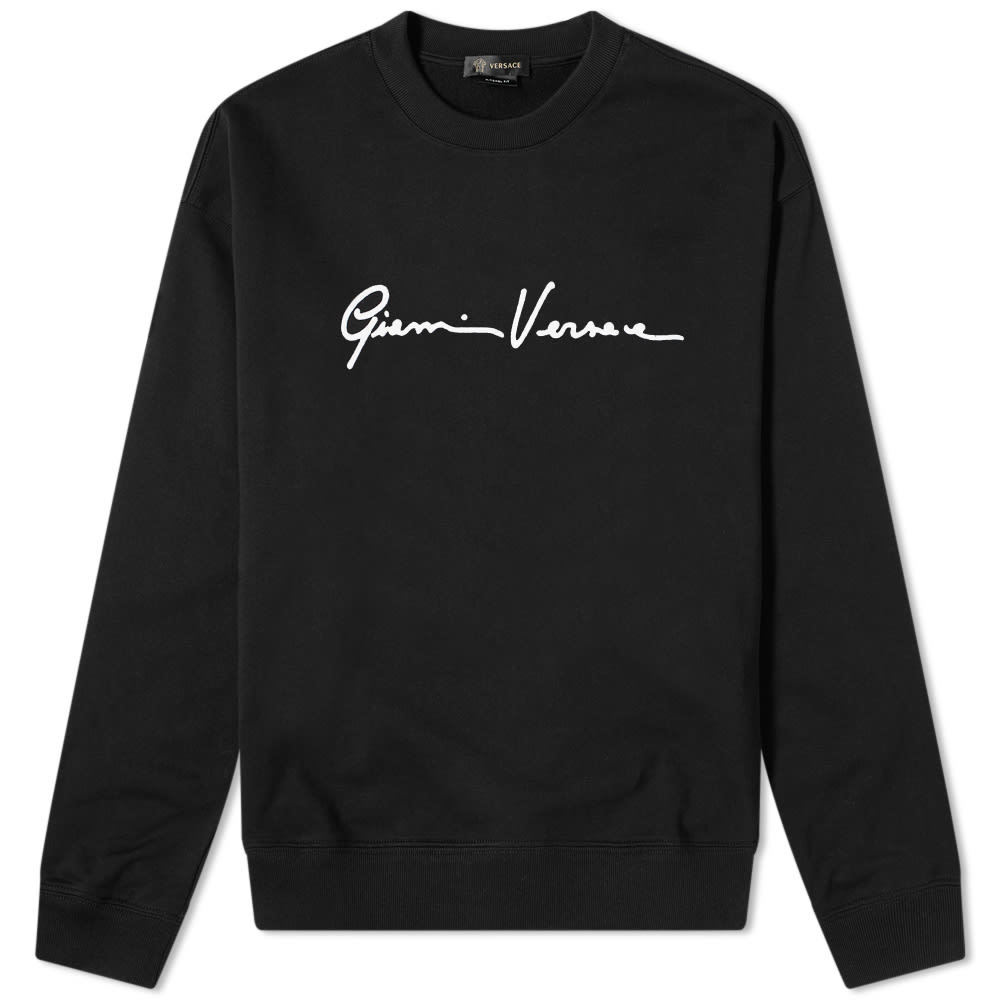 Photo: Versace Gianni Signature Flocked Crew Sweat
