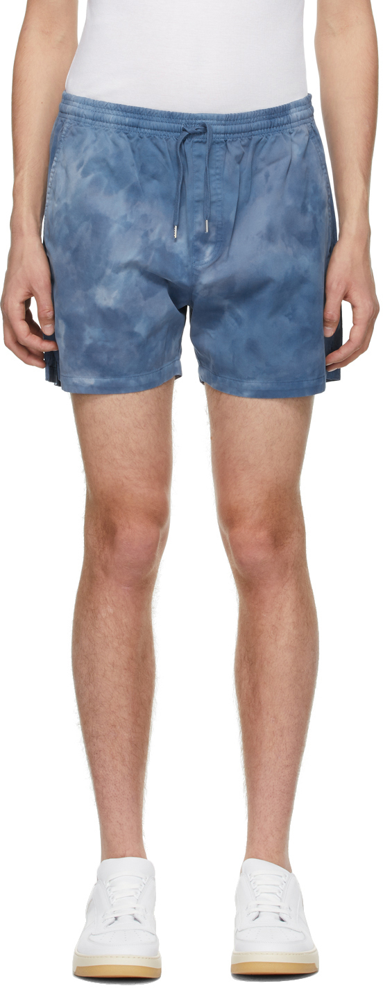 Photo: Schnayderman's Blue Tie-Dye Shorts