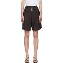 3.1 Phillip Lim Black Belted Utility Shorts