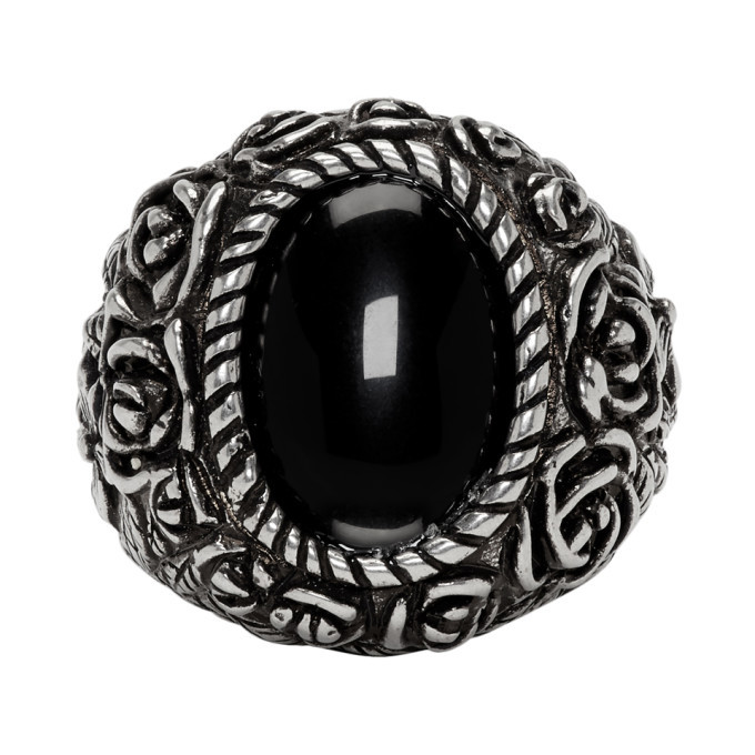 Photo: Givenchy Silver Flower Ring