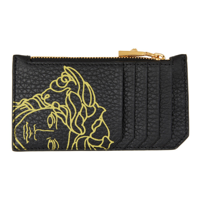 Photo: Versace Black Pop Medusa Long Zip Card Holder