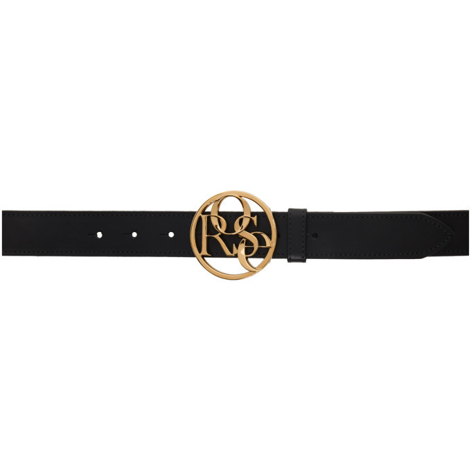 Photo: Martine Rose Black and Gold Rose Buckle Belt