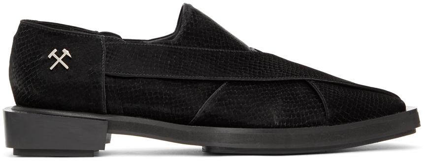 Photo: GmbH Black Snake Chappal Loafers