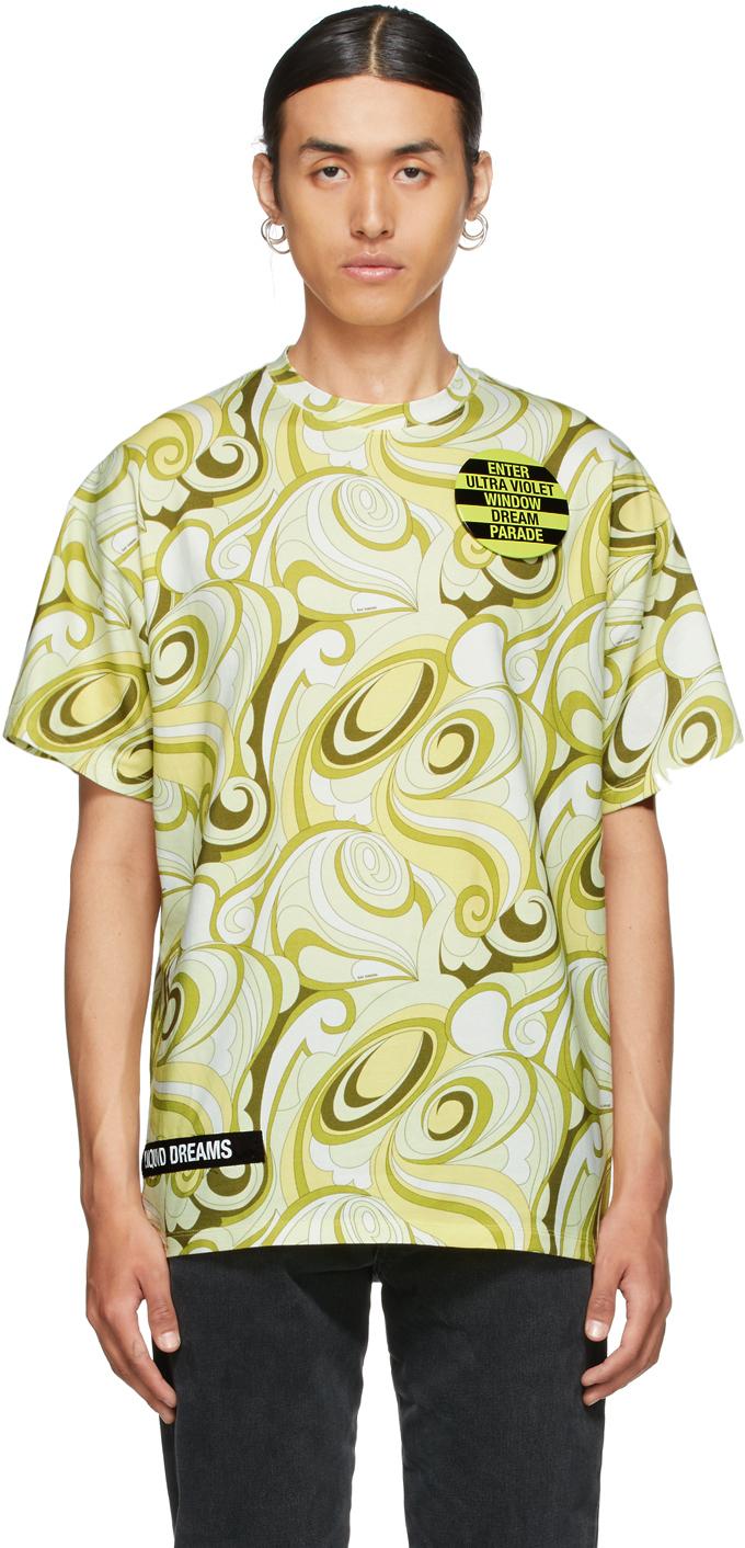Photo: Raf Simons Yellow & Green Printed T-Shirt