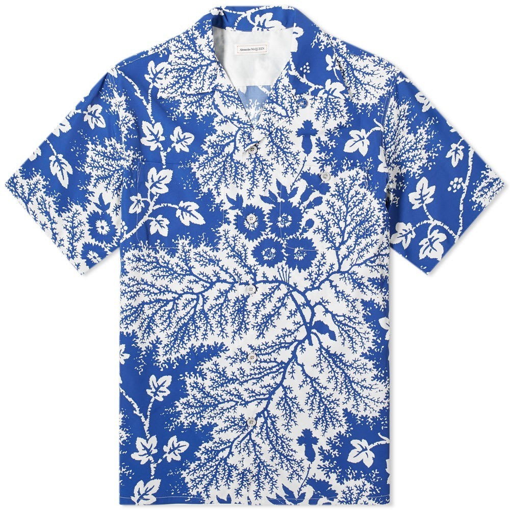 Photo: Alexander McQueen Ivory Print Vacation Shirt