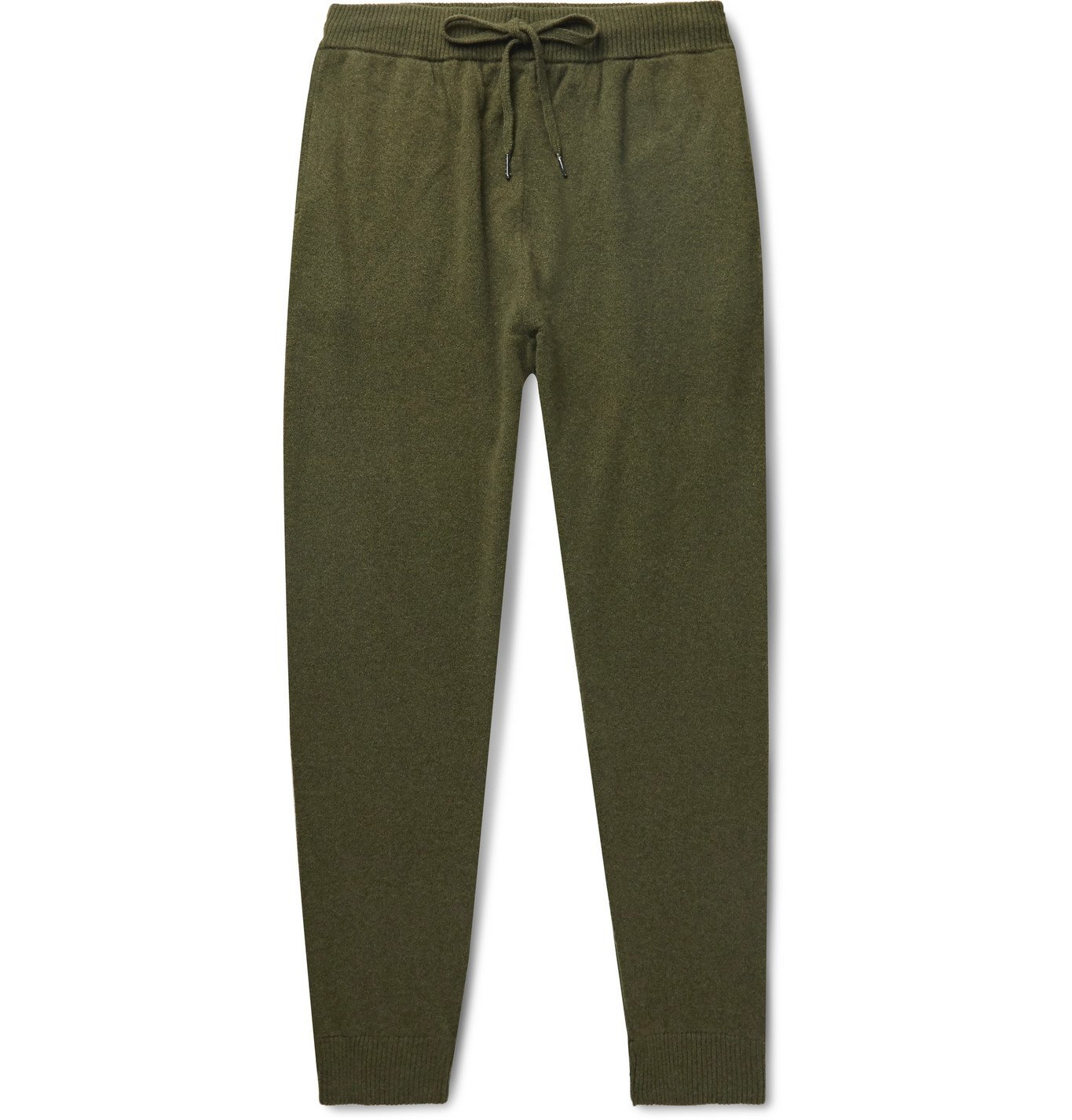 Photo: Derek Rose - Finley Tapered Cashmere Sweatpants - Green