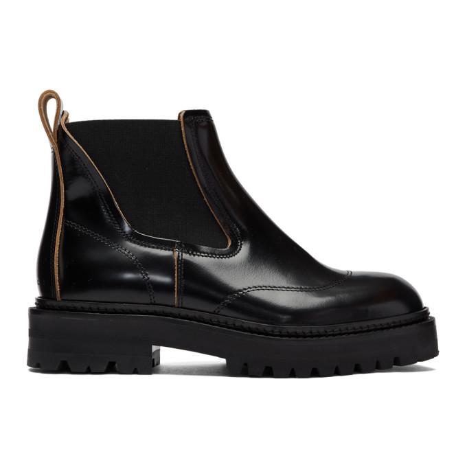 Photo: Marni Black Treaded Chelsea Boots