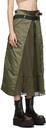 Sacai Nylon Twill Pleated Skirt