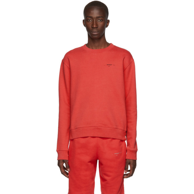 Photo: Off-White Red and Black Logo Slim Sweatshirt