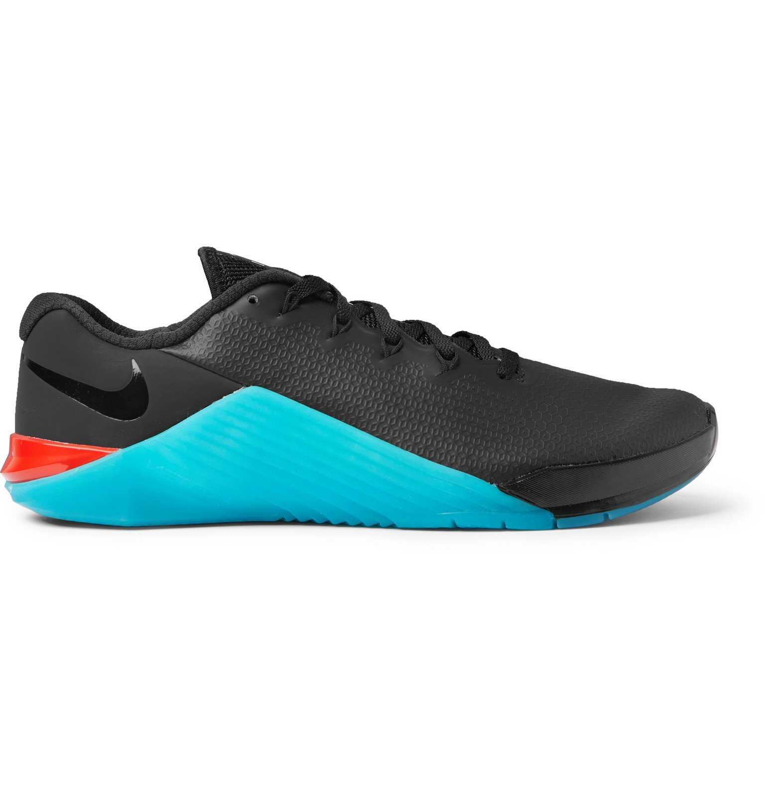 Photo: Nike Training - Metcon 5 AMP Rubber-Trimmed Mesh Sneakers - Black