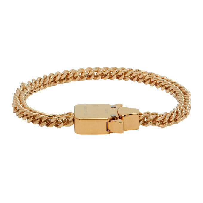 Photo: 1017 ALYX 9SM Gold Mini Cubix Bracelet