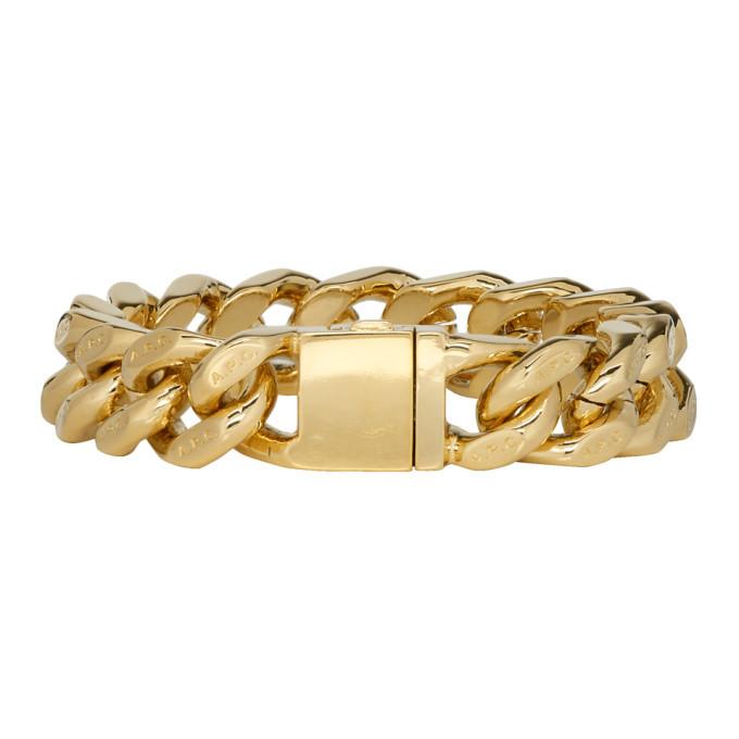 Photo: A.P.C. Gold Gravure Bracelet