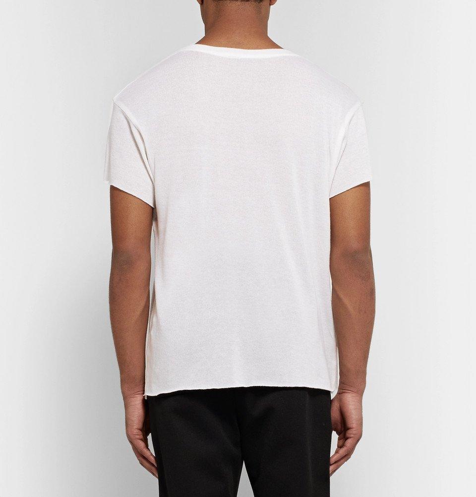 The Elder Statesman - NBA Miami Heat Cashmere and Silk-Blend T-Shirt - White