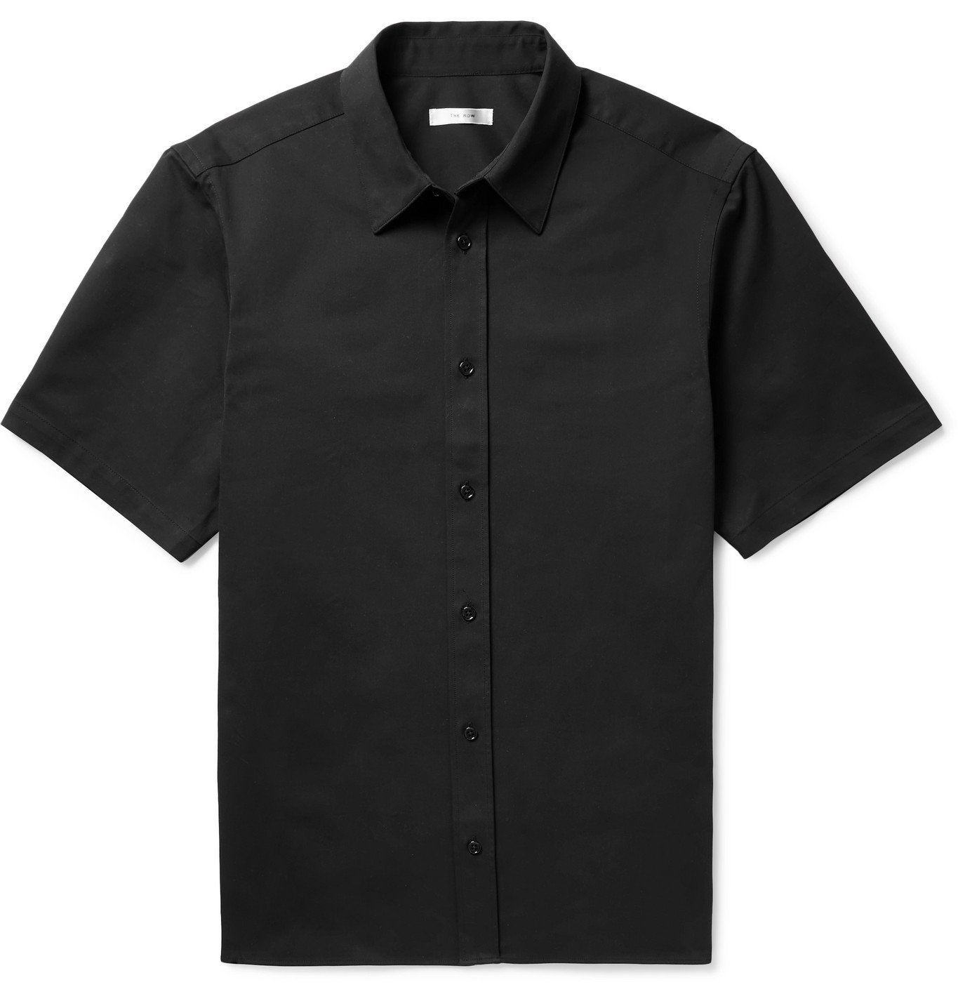 Photo: THE ROW - Tomek Stretch-Cotton and Cashmere-Blend Twill Shirt - Black