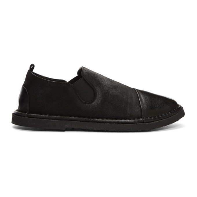 Photo: Marsell Black Parellara Pantofola Loafers