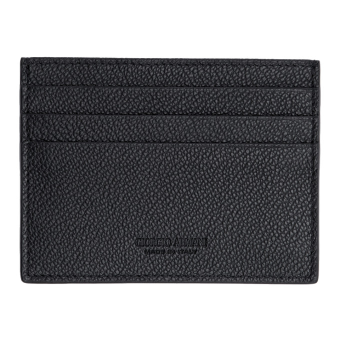 Photo: Giorgio Armani Black Tumbled Leather Card Holder