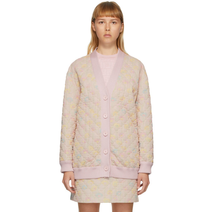 Photo: Fendi Pink Quilted Daisies Cardigan