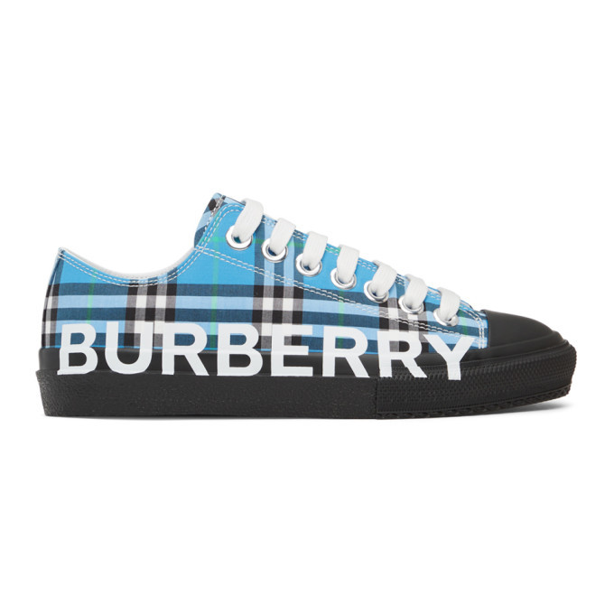 Photo: Burberry Blue Check Larkhall Sneakers