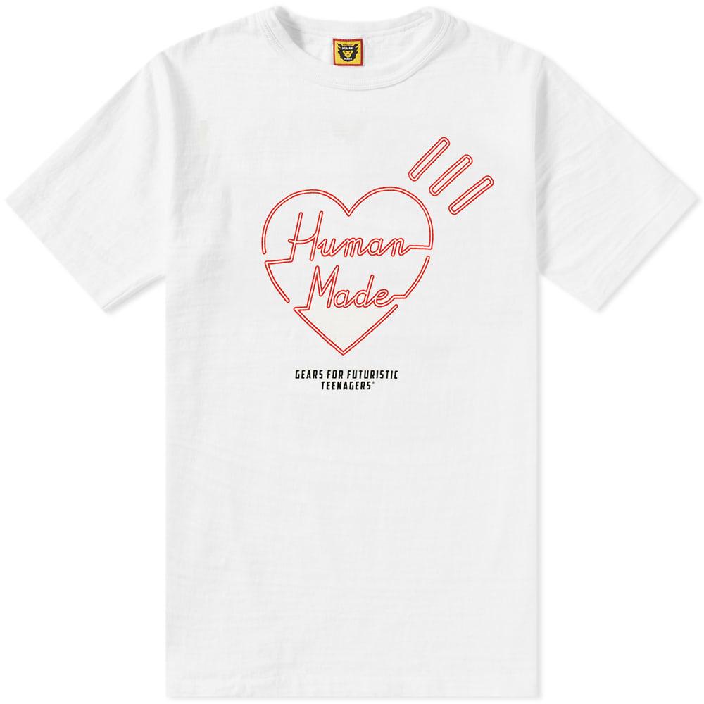 Photo: Human Made Red Line Heart Tee White