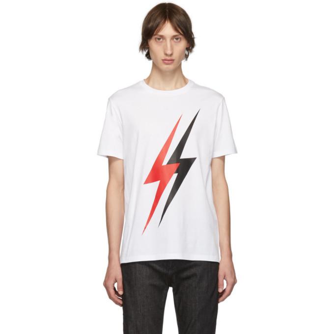 Photo: Neil Barrett White Lightning Bolt T-Shirt