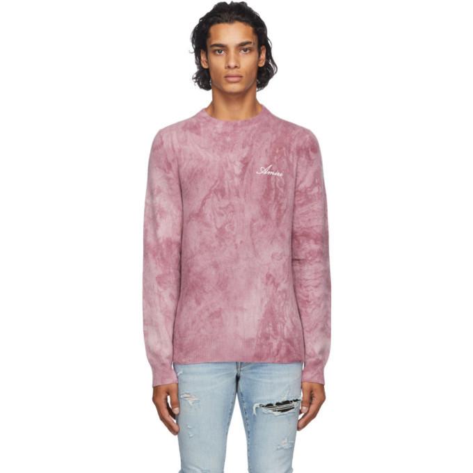 Photo: Amiri Burgundy Tie-Dye Marble Sweater