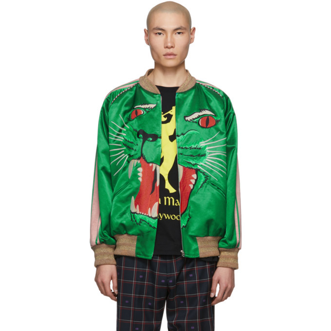 Photo: Gucci Green Panther Bomber Jacket