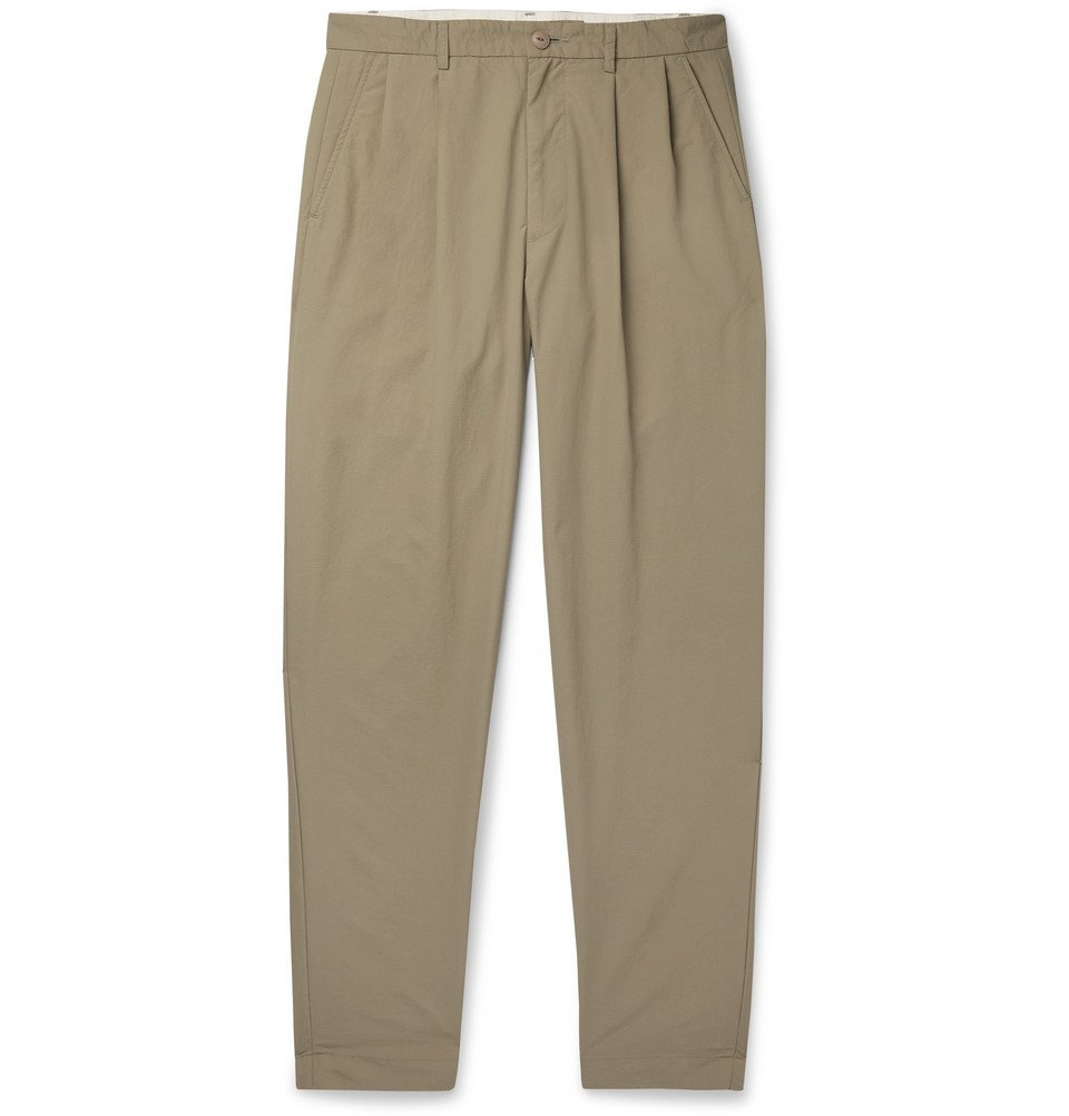 Photo: Cav Empt - Tapered Pleated Ripstop Chinos - Beige