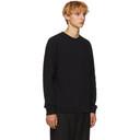 Sunspel Black Loopback Sweatshirt