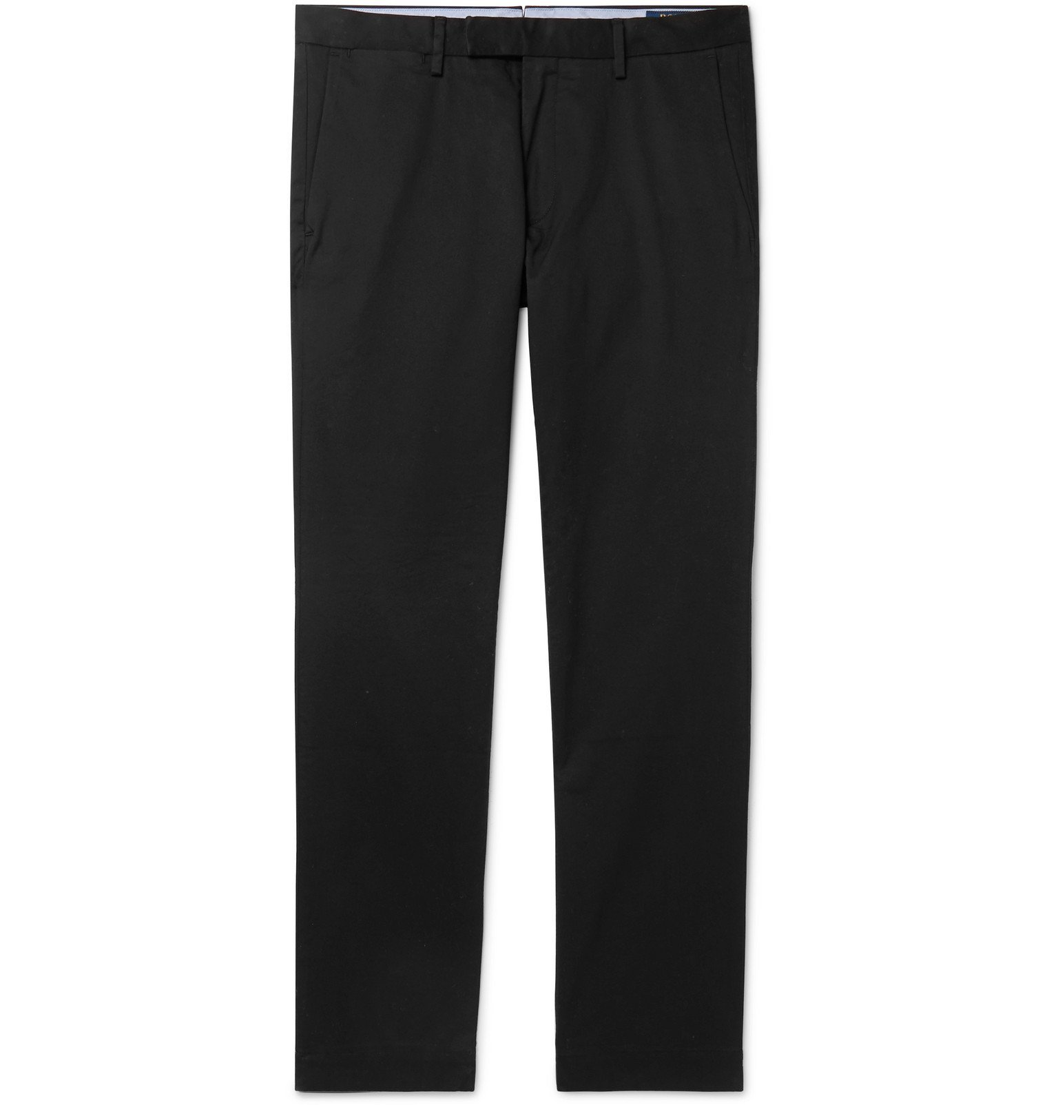 Photo: Polo Ralph Lauren - Black Slim-Fit Cotton-Blend Twill Chinos - Black
