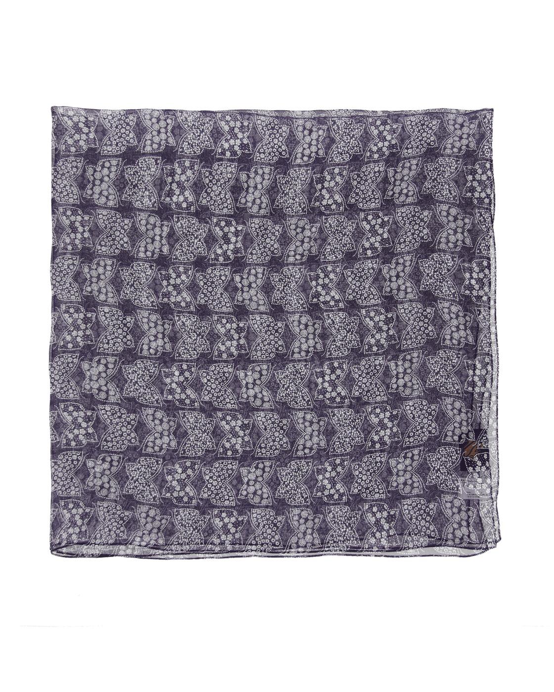 Photo: Needles Silk Crepe Scarf Purple