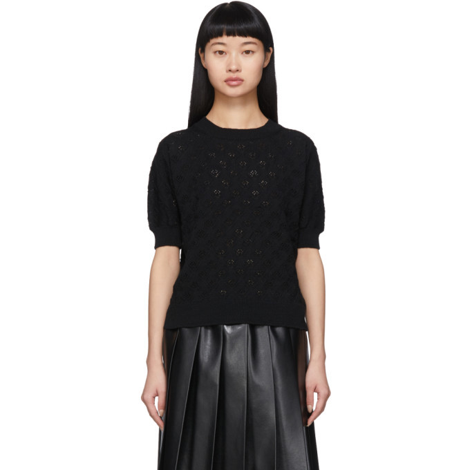 Photo: Tricot Comme des Garcons Black Openwork Short Sleeve Sweater