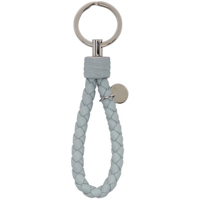 Bottega Veneta Blue Intrecciato Keychain