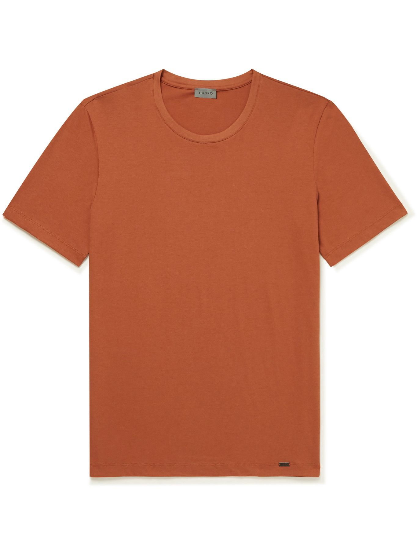 Hanro - Night & Day Cotton-Jersey Pyjama Top - Orange
