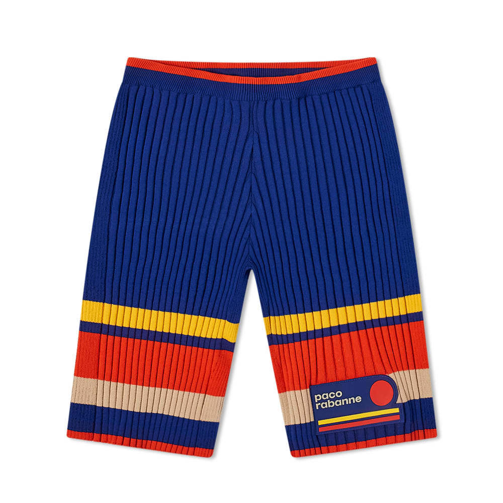 Photo: Paco Rabanne Knitted Colour Block Cycling Shorts