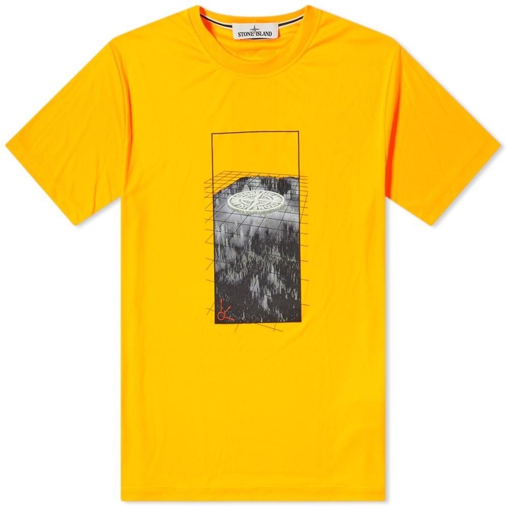 Photo: Stone Island Fluo Graphic Tee Shirt Three