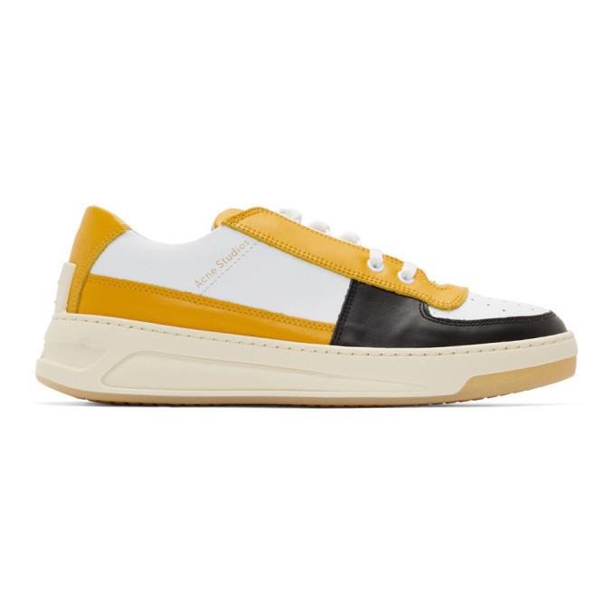 Photo: Acne Studios Yellow and White Perey Sneakers