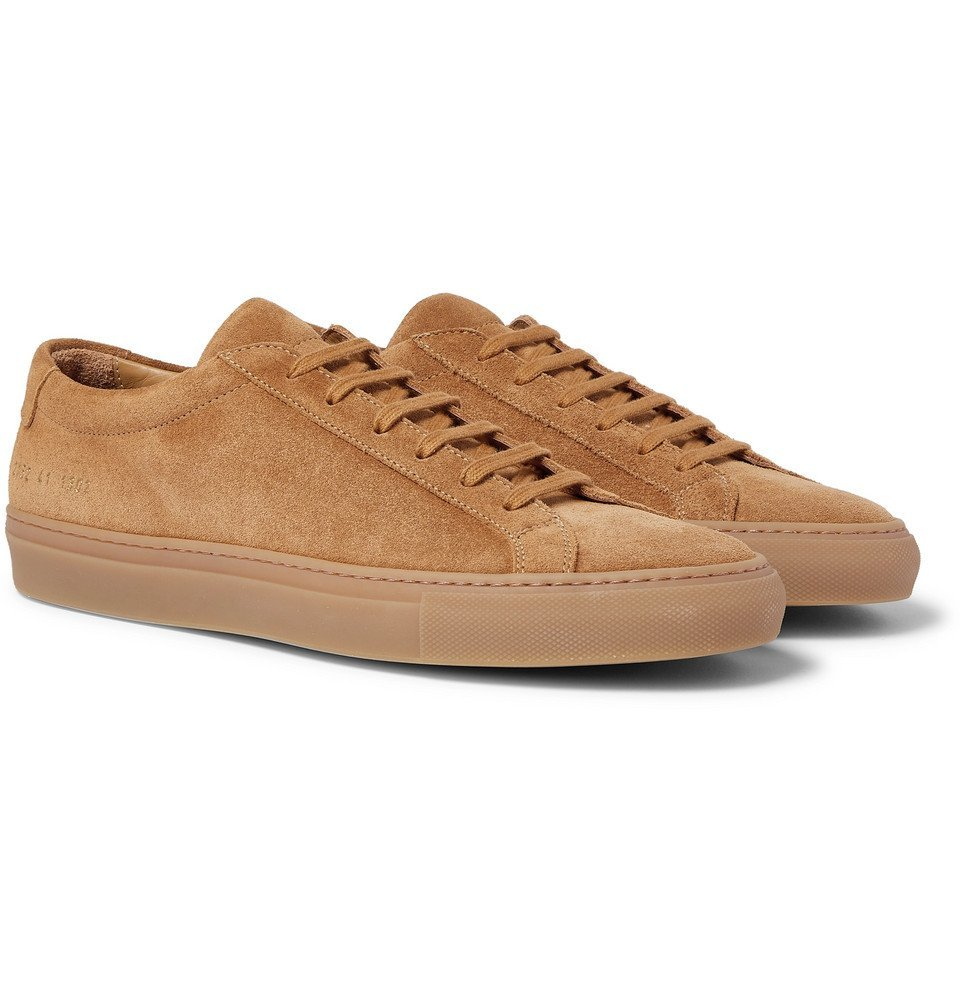 Photo: Common Projects - Original Achilles Suede Sneakers - Light brown
