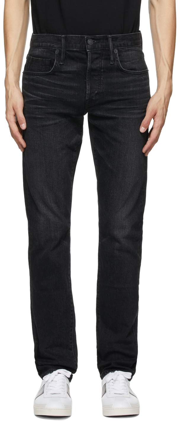 Photo: TOM FORD Black Stretch Washed Jeans