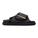 Sacai Black Faux-Fur Sandals