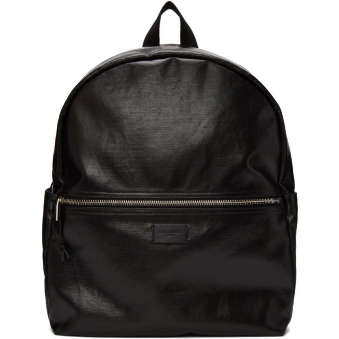 Photo: Saint Laurent Black Coated Canvas Nuxx Backpack