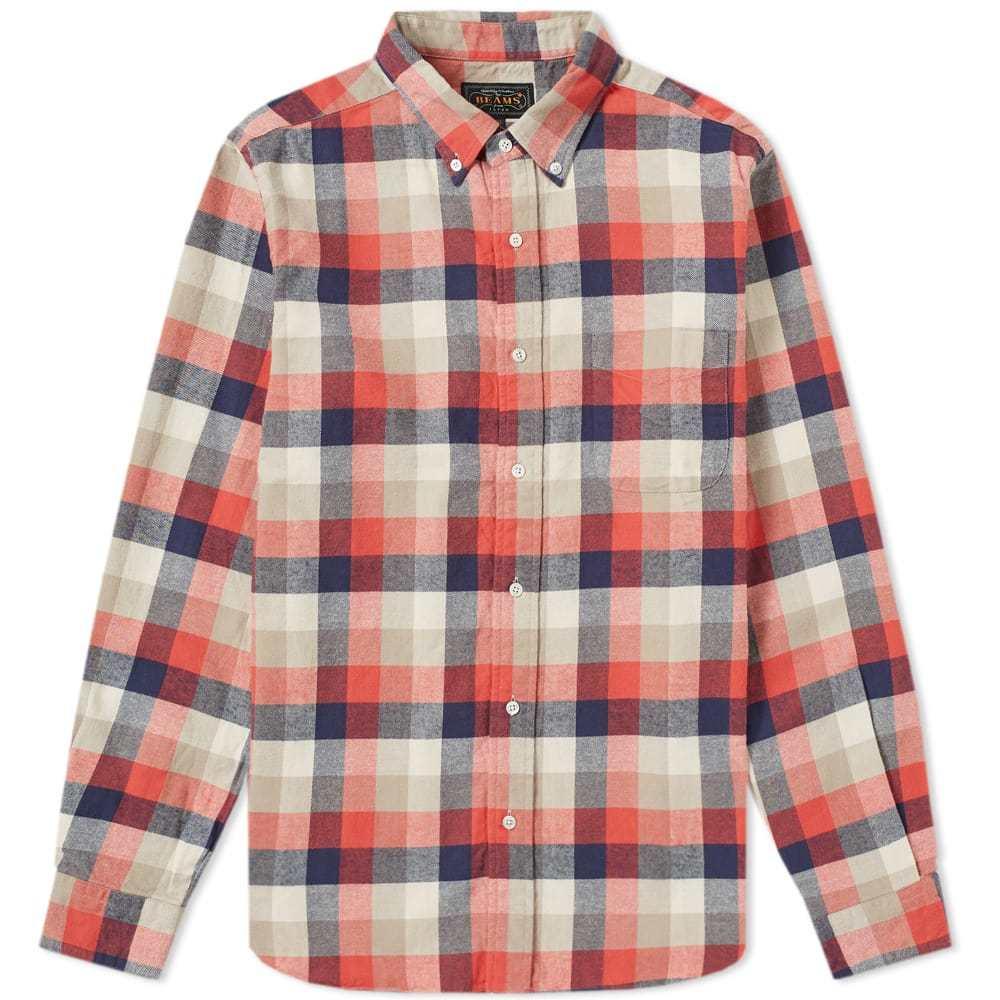 Photo: Beams Plus Button Down Bold Check Shirt Multi