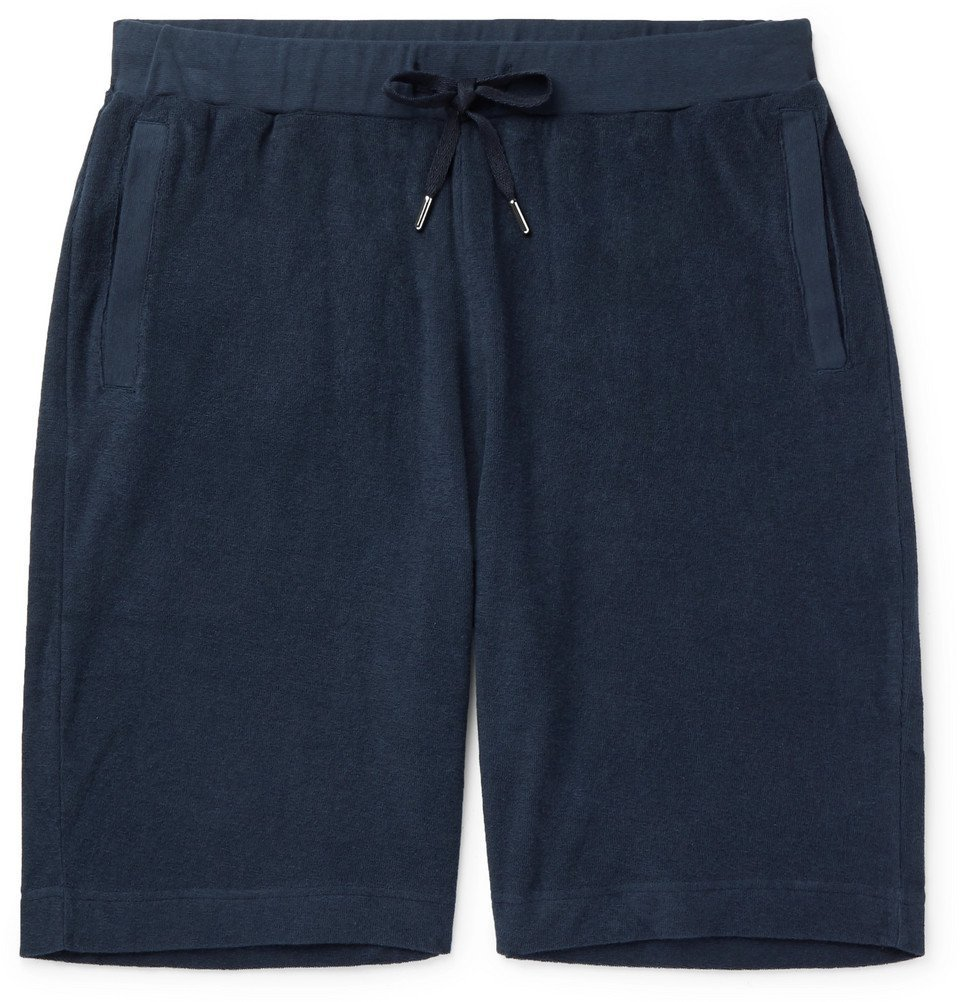 Sunspel - Cotton-Terry Shorts - Navy